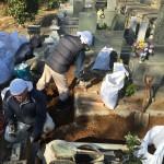 湯河原町福浦にて お墓の外柵のリフォーム工事