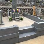 お墓の外柵のリフォーム工事が完成しました。(湯河原町福浦 寺院墓地にて)