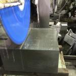 洋型デザイン墓石の竿石、製作開始です。