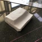 藤沢市大庭台墓園 本小松石製 洋型デザイン墓石の台石の製作を始めました。