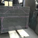 本小松石のお墓造り〜工場での製作作業