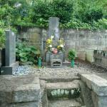 本小松石を使ったお墓のリフォーム 工事開始しました。