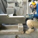 本小松石のお墓の製作