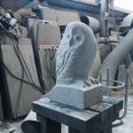 フクロウの石の彫刻(試作品の製作です)