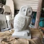 フクロウの石材彫刻〜2日目〜