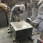 本小松石で造る自然石墓誌&中台の水垂れ加工