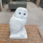 フクロウの彫刻が完成しました。本小松石で造るフクロウの彫刻〜完成〜