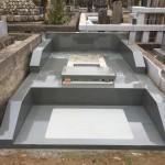 多磨霊園にてお墓造り、外柵の完成