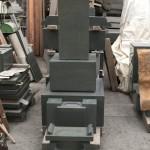 本小松石製、和型尺一寸角石塔が完成しました。
