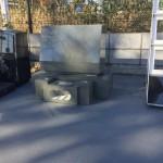 群馬県の石材店様へ展示場用の本小松石製 洋型墓石の納品