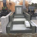 多磨霊園に本小松石製_洋型オリジナルデザイン墓石_外柵を建立しました。