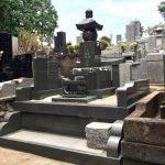 青梅市の寺院墓地に本小松石製の五輪塔と外柵が完成しました。