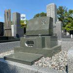 藤沢市大庭台墓園に本小松石製の洋型墓石を建立しました。